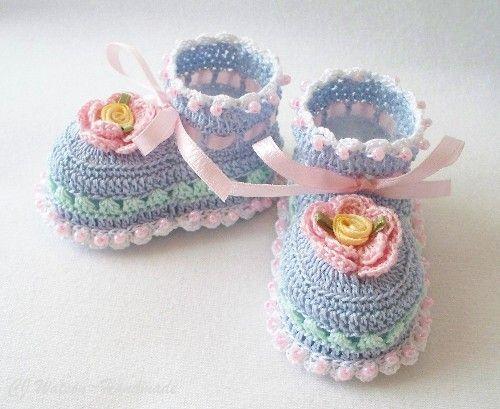 Crochet Baby Booties ♡