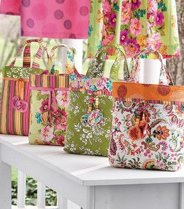 Sewing project! Zest Tote Bags, project .pdf - free pattern.