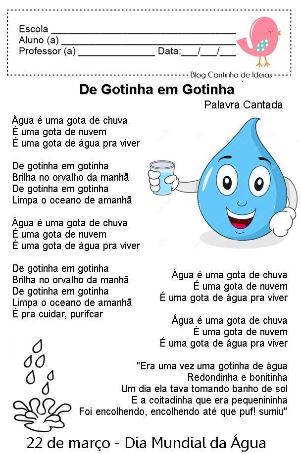 Dia Mundial Da Agua Atividades Com Imagens Dia Mundial Da
