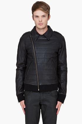 SLVR Black Leather Biker Jacket: Black Leather, Leather Jackets, Leather Biker Jackets