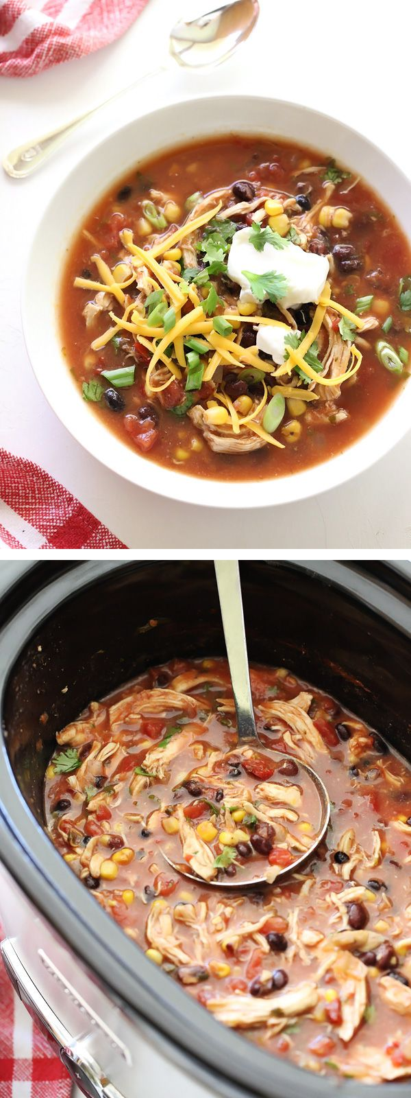 This recipe is a shining example of the approachable recipes with a healthy twist you'll find in The @Skinnytaste Cookbook. In fact this slow cooker soup was so family friendly my daughter ate it for 3 straight meals—at her request!