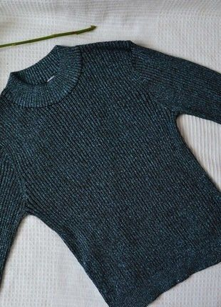 Kaufe meinen Artikel bei #Kleiderkreisel http://www.kleiderkreisel.de/damenmode/oberteile-and-t-shirts-langarmlig/152436438-hm-metallic-langmarbluse-blau-metallic-gr-s