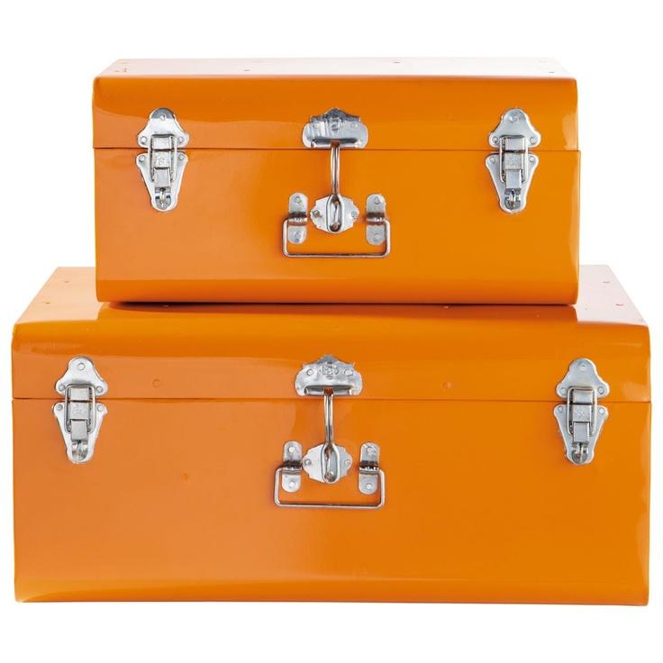 Ensemble de 2 malles orange