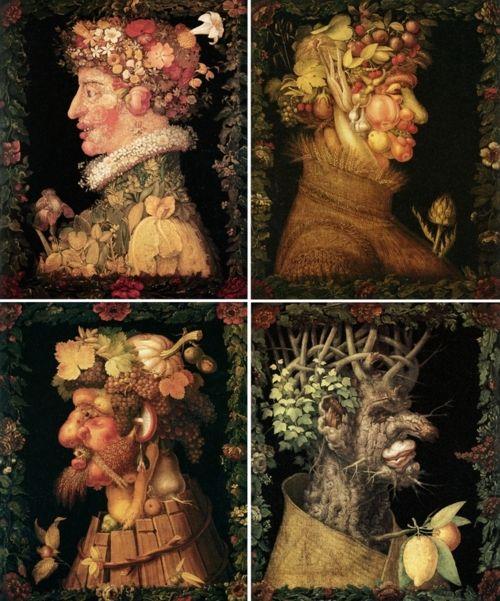 A World of Art through Visual Exploration: Giuseppe Arcimboldo - Four Seasons Painting