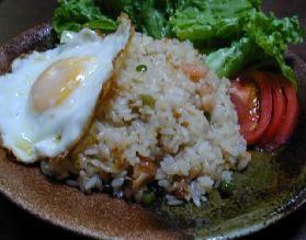 インドネシア料理 ナシゴーレン__Indonesian Fried Rice with chicken and shrimp