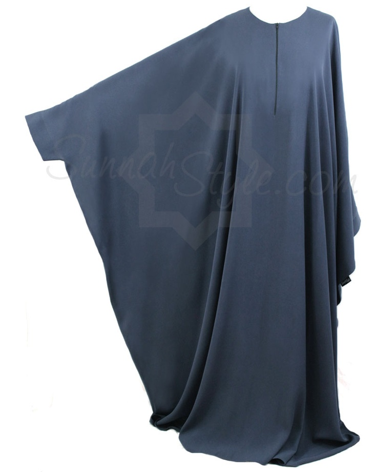 Essential Bisht Abaya (Steel Blue) by Sunnah Style #SunnahStyle #abayastyle #bisht #IslamicClothing