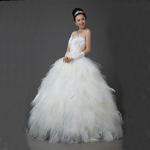 Glamour, dramatique A-Line/Trapèze Sans manches Longueur des manches Plumes / Fourrure Princesse Robe de Mariée