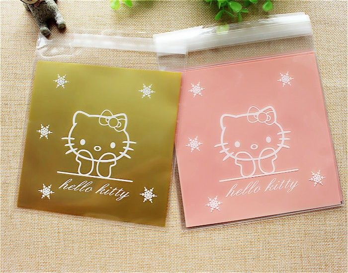Hello Kitty Self-Adhesive Cookie Plastic Bags 100pcs //Price: $6.99 & FREE Shipping // World of Hello Kitty http://worldofhellokitty.com/100-pieceslot-cookie-packaging-small-plastic-bags-hello-kitty-self-adhesive-bag-for-biscuits-birthday-party-supplies/    #hellokitty