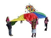Schwungtuchspiele für Kinder