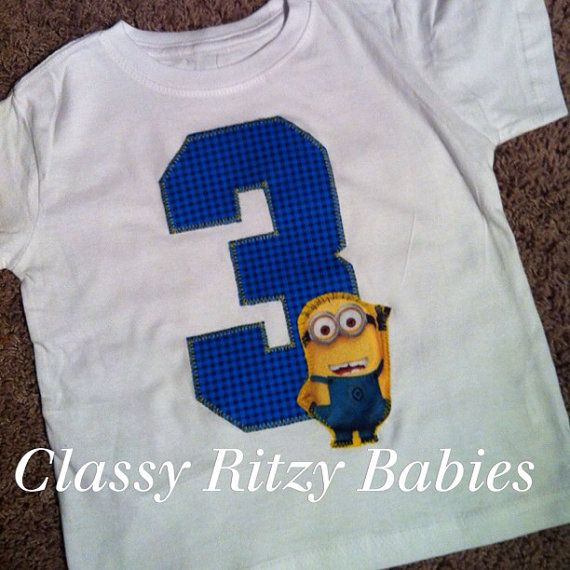 Despicable me birthday. Minion birthday  by Classyritzybabies, $15.00