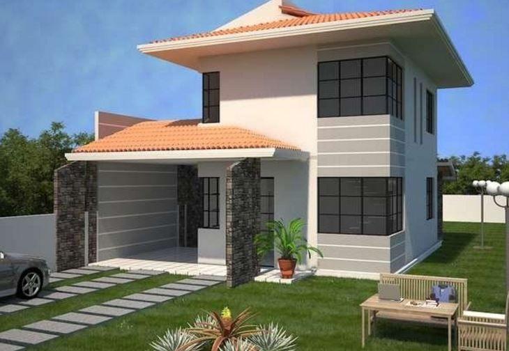 10 Casas Con Tejas Francesas Casas De Dos Pisos Planos De Casas Casas Con Tejas