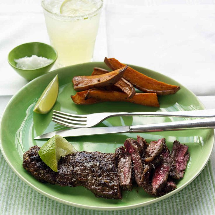 Lime and garlic, with a bit of soy sauce, are a perfect and easy marinade for skirt steak.
