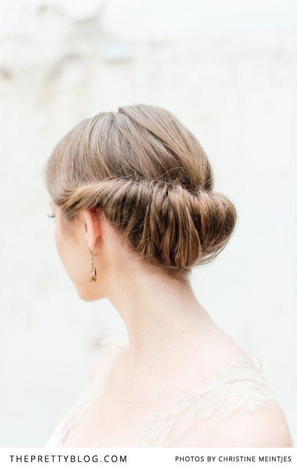 Simple, elegant bridal hair