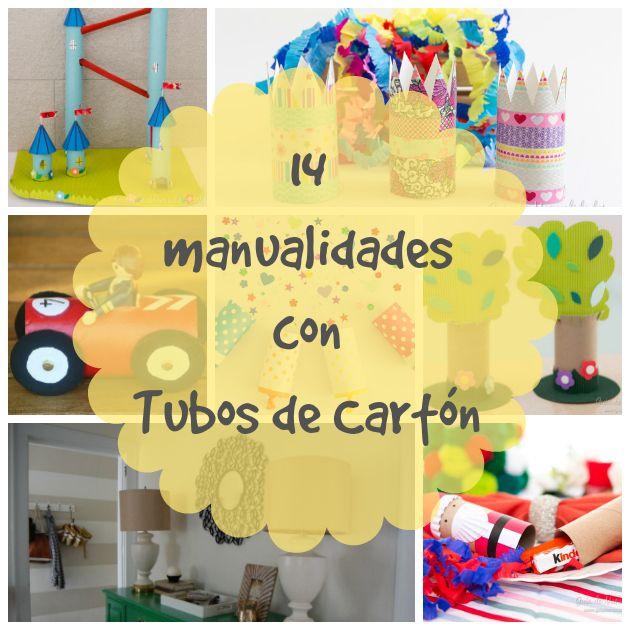 14 manualidades para reciclar tubos de cartón - Guía de MANUALIDADES