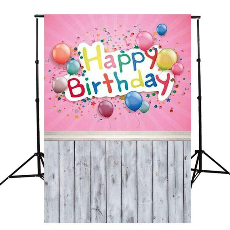 5X10FT Birthday Party Pink Balloon Theme Photography Background For Studio Photo Props Thin vinyl Photographic Backdrops #Affiliate