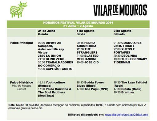 Alinhamento completo dos 4 dias de festival! Vai ficar na história :) #vilarmouros #arockardesde1971