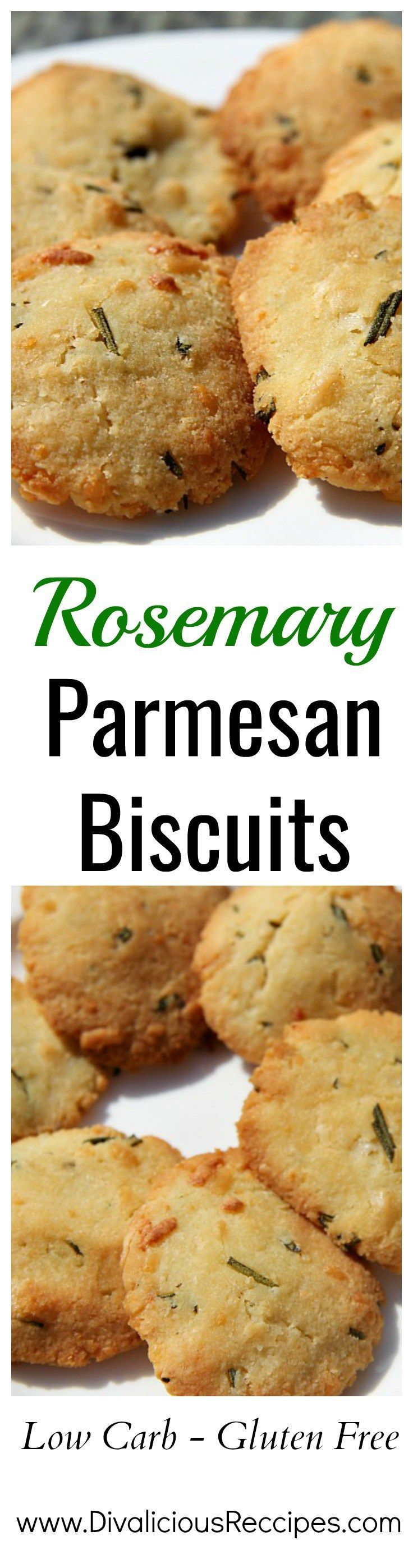 Rosemary Parmesan biscuits are baked with almond flour and make a savoury biscuit.  A healthier option for those following a Low carb, Keto or gluten free diet.