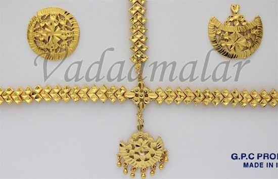 Maang Tikka Cutti in Gold plated nethi chutti Head Set Bharatanatyam India Bridal Set