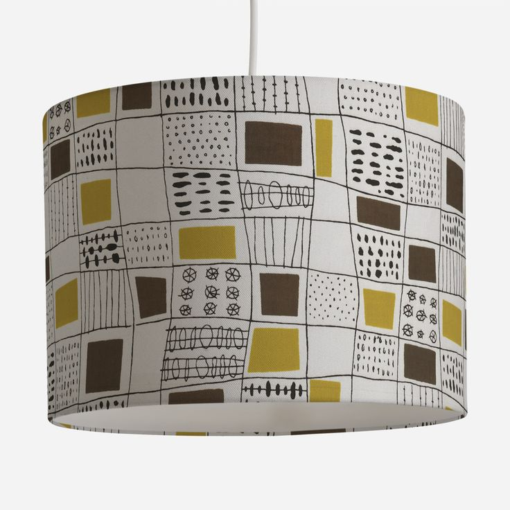 'Screen Printed Furnishing Fabric II' Lampshade - Mid Century Modern Edit, from £80 at surfaceview.co.uk