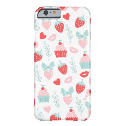 Sweet Strawberry and Cupcake Romantic Heart Lips Barely There iPhone 6 Case | Phone Accessories | Floral Iphone Covers | Gifts for her | Gifts for him | Designer Iphone covers | Custom phone covers