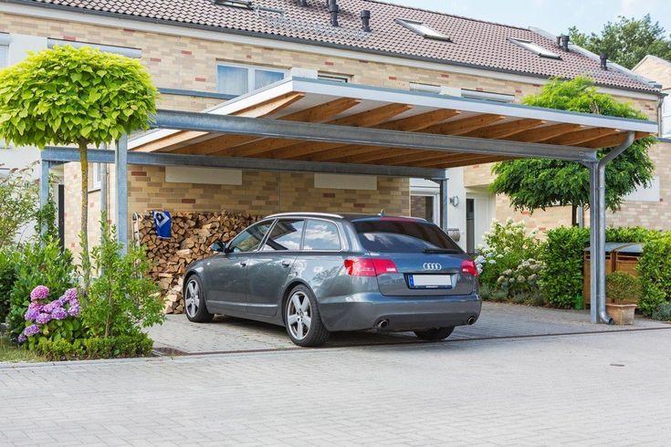 парковка навес в загородном доме