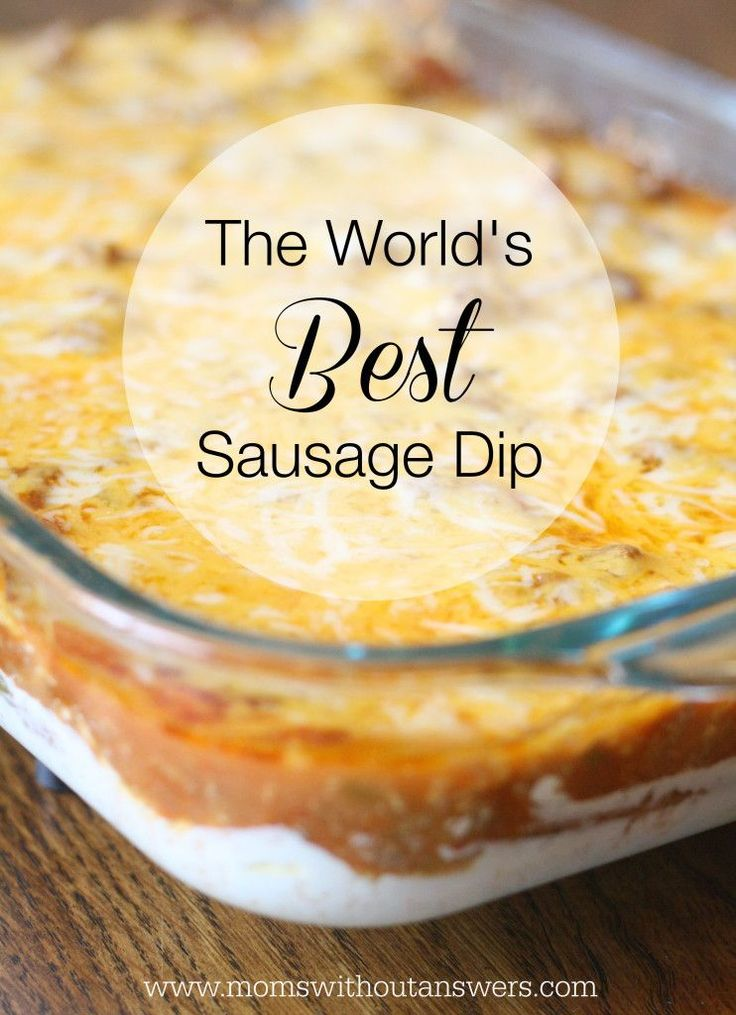This World's Best Sausage Dip is sure to be a party favorite. Quick and easy recipe will be your new party go to that your friends will beg for.
