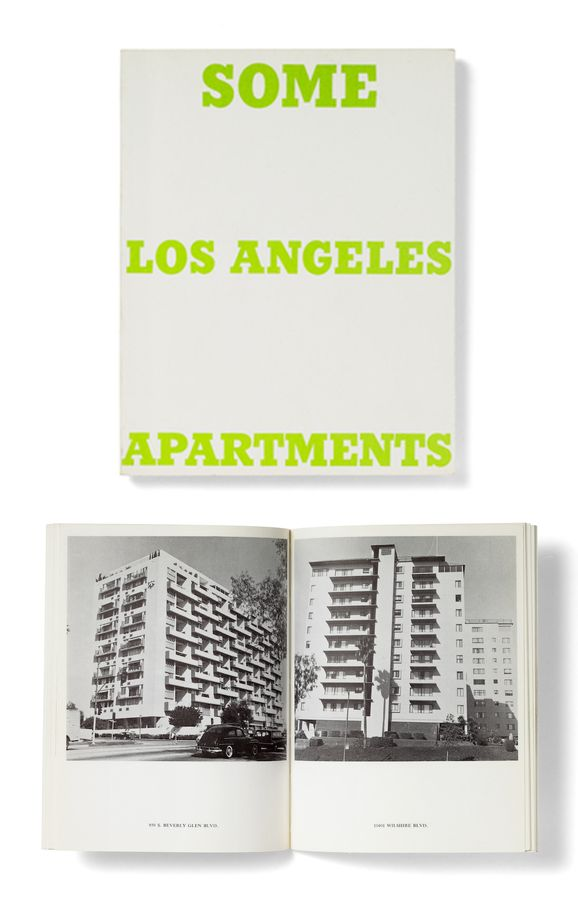 Some Los Angeles Apartments : Edward Ruscha, 1970. A number of the apartment buildings shown in this book also were the subjects of a series of drawings Ruscha made in 1965.