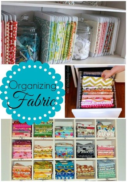 craft room / Studio organization How to Organize your fabric!