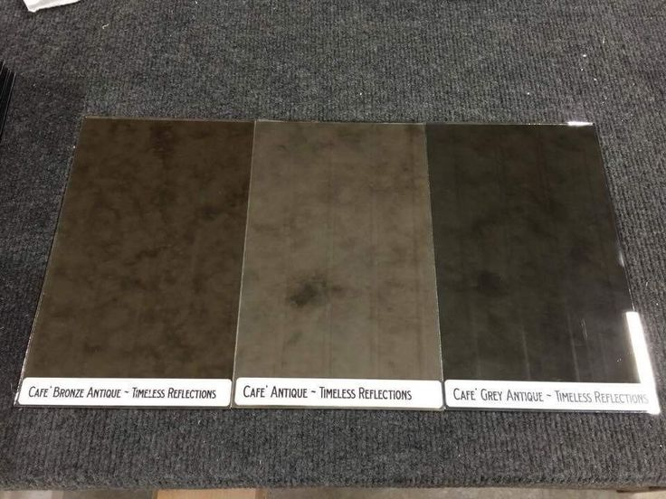 Cafe' Antique Mirror Glass Sample Collection - Clear/Bronze/Gray