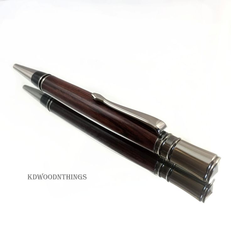 Cocobolo Wood Pen / Executive Twist Pen / Gun Metal / Dark Wood Pen / Ballpoint…