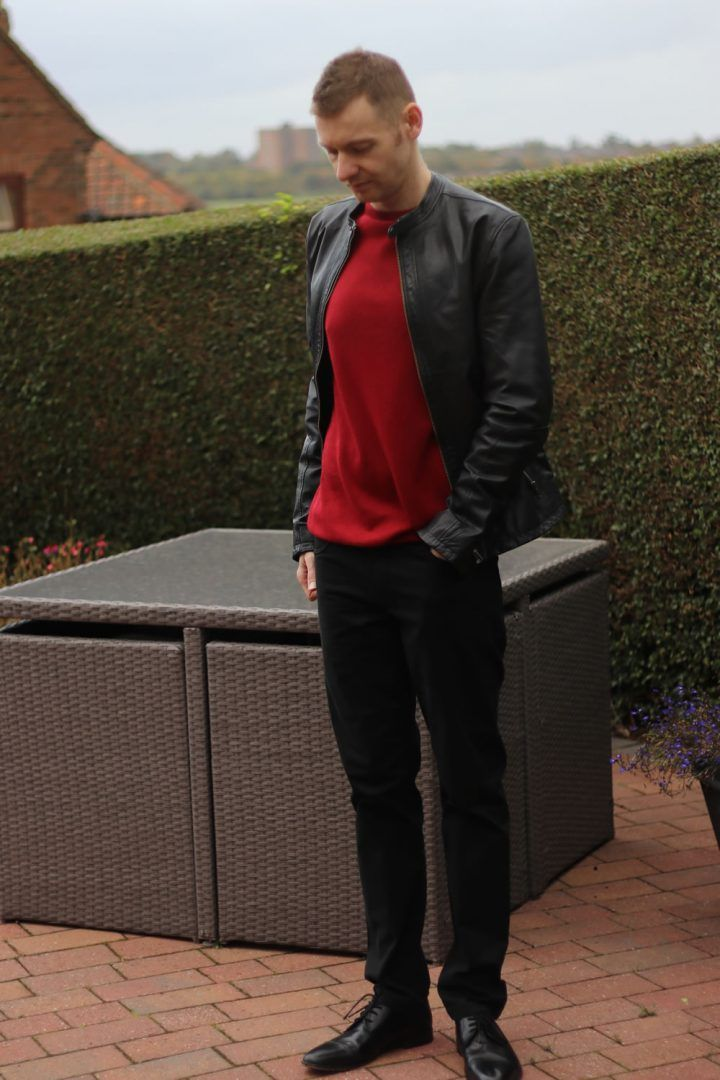 Red Cashmere Sweater Outfit Of The Day Menswear Mens Fashion