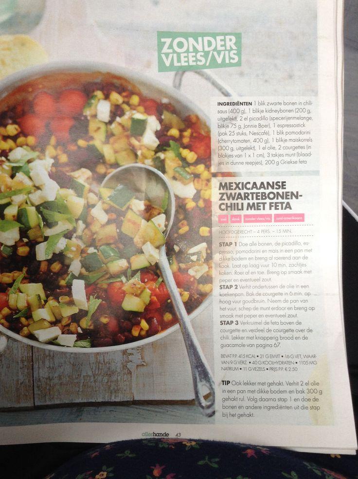 Mexicaanse zwarte bonen Chili