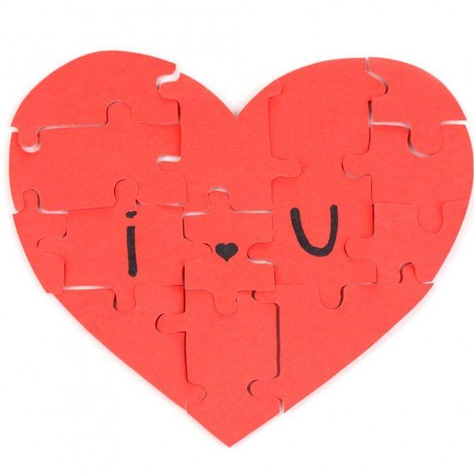 DIY Valentines Ideas: Heart Puzzle