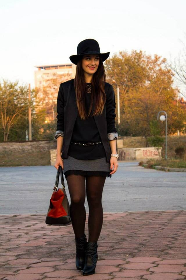 Nice winter skirt outfit | Skirt outfits♡ | Pinterest ...