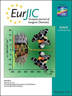 #geoubcsic Trinuclear Complexes Derived from R/S Schiff Bases - Chiral Single-Molecule Magnets. Escuer, A; Mayans, J; Font-Bardia, M; Di Bari, L; Gorecki, M. EUROPEAN JOURNAL OF INORGANIC CHEMISTRY, (6):991-998 [2017]. The employment of enantiomerically pure Schiff bases in manganese chemistry is revealed to be an excellent method to obtain chiral single-molecule magnets and has allowed the characterization of several pairs of enantiomers, for which the magnetic properties were…