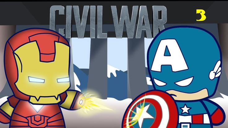 tutorial how to draw iron man chibi style vs captain america in civil war final battle how to draw cartoons easy step by step for children and kids