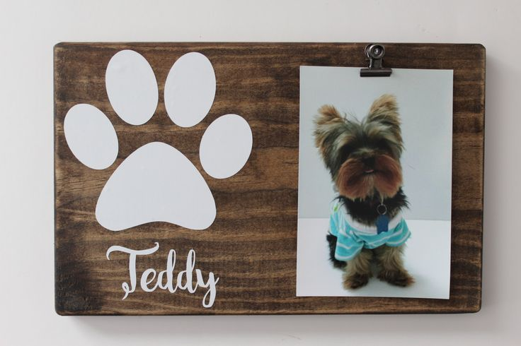 Dog Picture Frame, Personalized Pet Frame, Pet Home Decor, Rustic Picture Frame by MyRusticPlace on Etsy