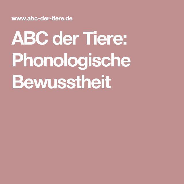 ABC der Tiere: Phonologische Bewusstheit