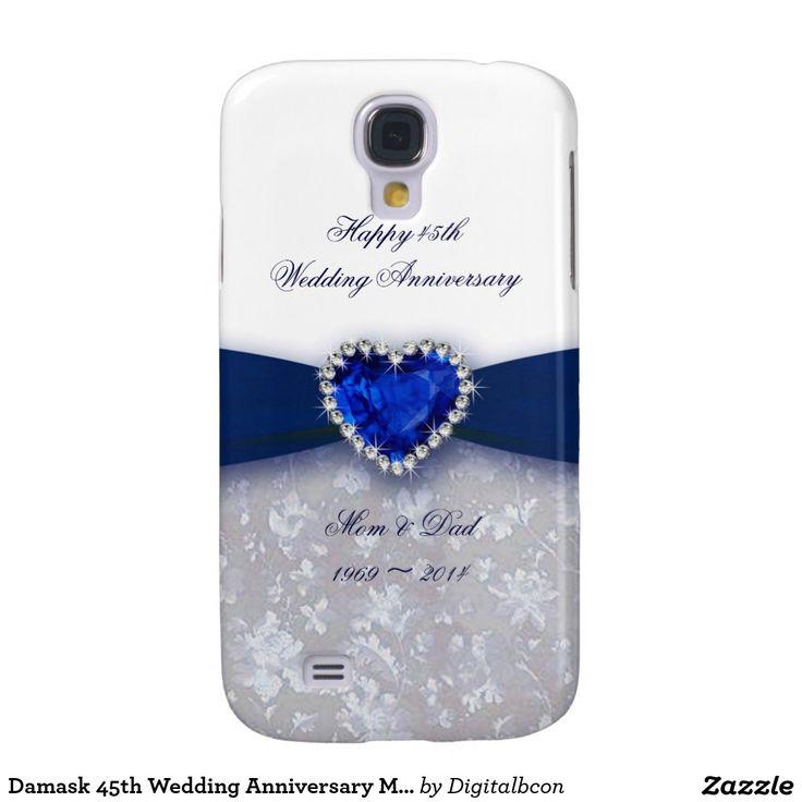 Damask 45th Wedding Anniversary Motorola Case Galaxy