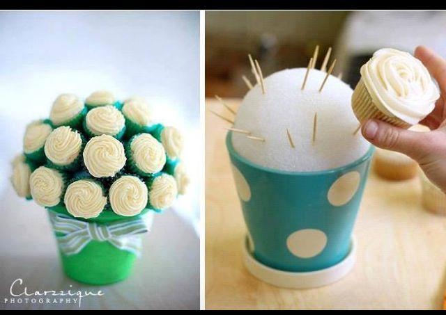 Blumenstrauß Rosen Hochzeitsdeko. Hochzeitsgeschenk. Geburtstagsgeschenk. Cupcakes. Wedding gift.birthday gift. Flowers. Bouquet