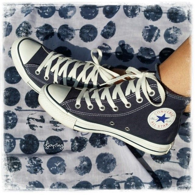 I really love my new All Stars   #allstar #allstars #converse #blue #white #fashion #sneaker #sneakers #colour #shoe #shoes #cute