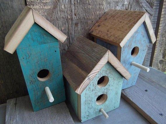 Gorgeous blue birdhouses