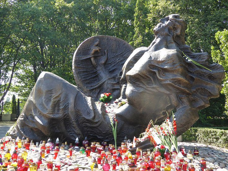 """The monument to """"The Fallen - Unconquerable"""" in Warsaw Insurgents Cemetery...."""