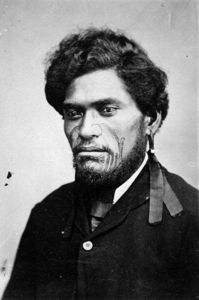 beautiful Maori man with a moko