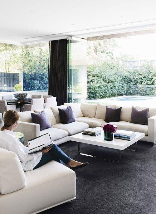 corner sofa via Est magazine