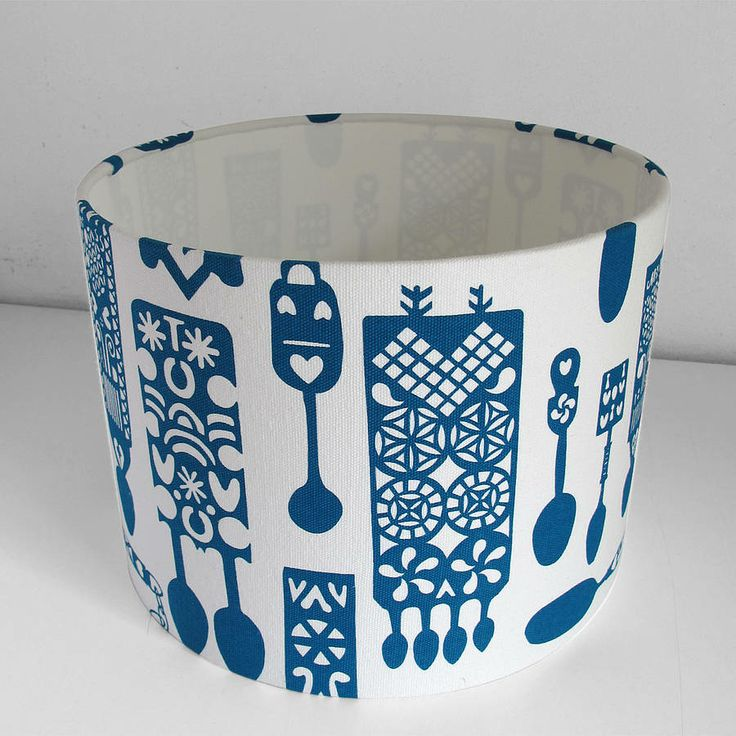 welsh lovespoon print lampshade by peris and corr | notonthehighstreet.com