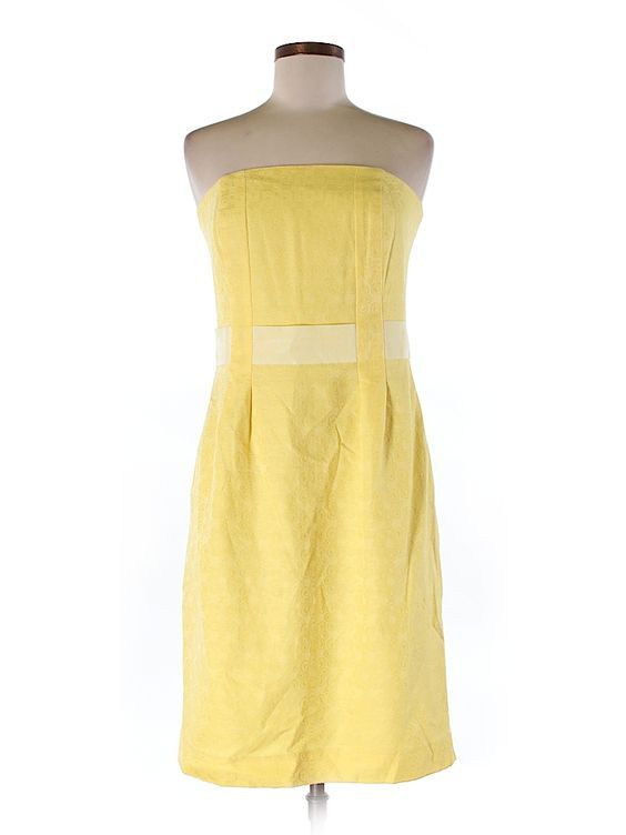 Lilly Pulitzer Yellow Cocktail Dress Size 0