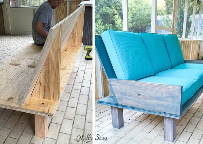 Plywood Couch Build A Diy Outdoor Sofa Bench Outdoor