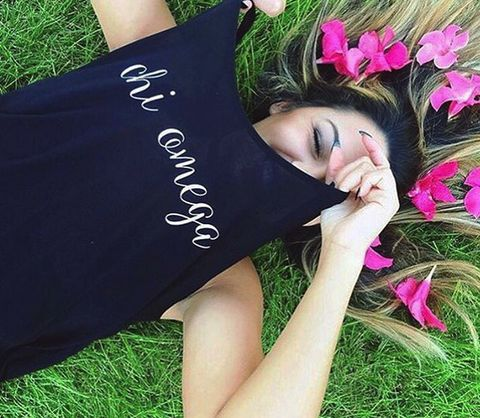Absolutely love this design!  Get it custom made on any style shirt you want!  Get all of your Chi Omega apparel here at Something Greek.