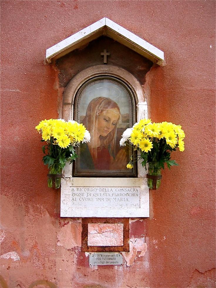 Virgin Mary Shrine Photograph, Venice,